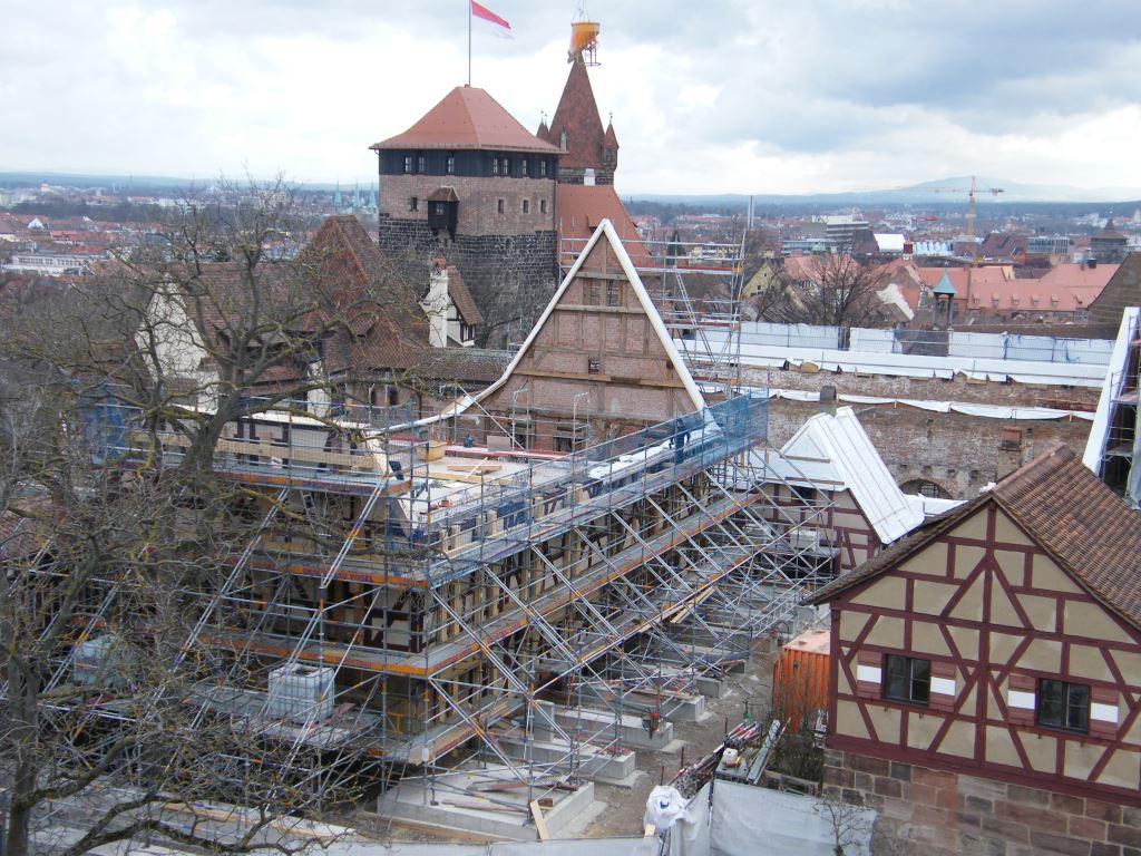 Baustelle auf der Nürnberger Burg (c) Bayerische Schlösserverwaltung 2019